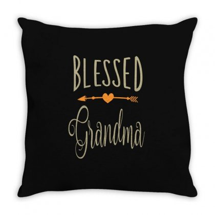 Blessed Grandma Throw Pillow Designed By Cidolopez
