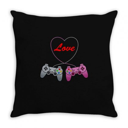 Funny Love Controler Game T Shirt Throw Pillow Designed By Hung