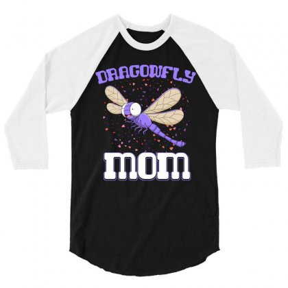 Dragonfly Mom   Mothers Day T Shirt 3/4 Sleeve Shirt Designed By Hung