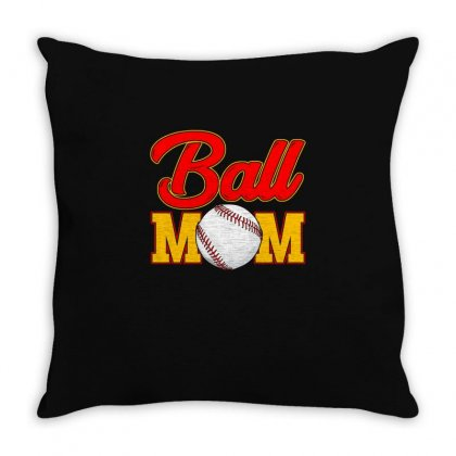 Ball Mom   Funny Mothers Day T Shirt Throw Pillow Designed By Hung