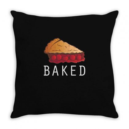 Baked T Shirt Throw Pillow Designed By Hung