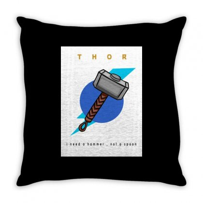 Thor Tshirt Throw Pillow Designed By Anujlama105