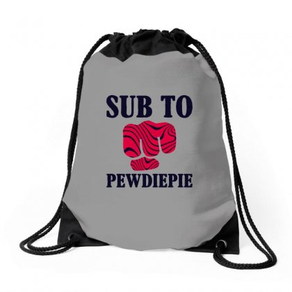 Sub To Pewdiepie Drawstring Bags Designed By Sengul