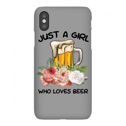 Just A Girl Who Loves Beer For Light Iphonex Case Designed By Sengul