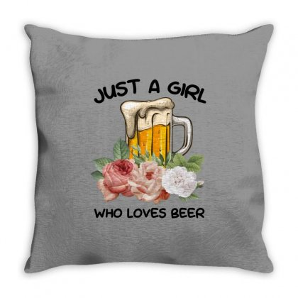 Just A Girl Who Loves Beer For Light Throw Pillow Designed By Sengul