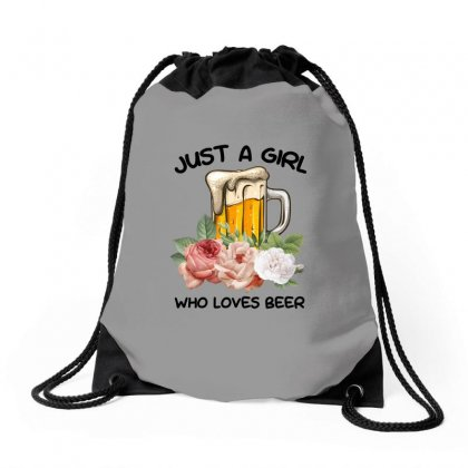 Just A Girl Who Loves Beer For Light Drawstring Bags Designed By Sengul