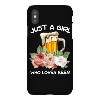 Just A Girl Who Loves Beer For Dark Iphonex Case Designed By Sengul