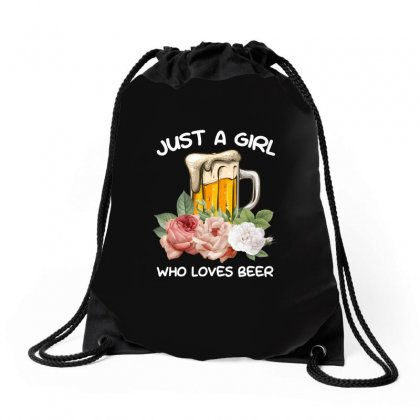 Just A Girl Who Loves Beer For Dark Drawstring Bags Designed By Sengul