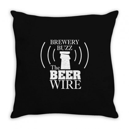Beer Wire Brewery Buzz Throw Pillow Designed By Gooseiant