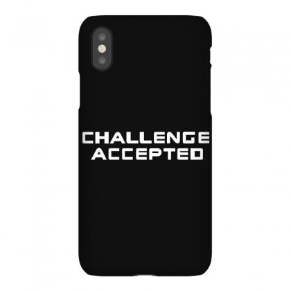 Challenge Accepted Iphonex Case Designed By Gooseiant