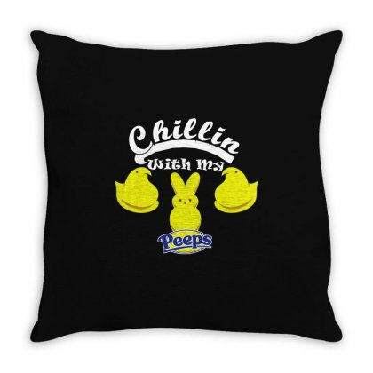 Chillin With My Peeps Throw Pillow Designed By Gooseiant