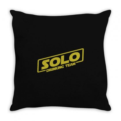 Drinking Solo Throw Pillow Designed By Gooseiant