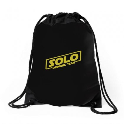 Drinking Solo Drawstring Bags Designed By Gooseiant