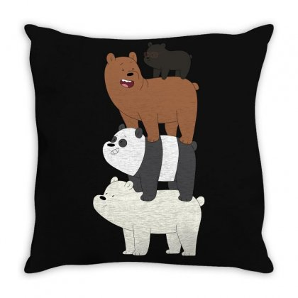 We Bare Bears Throw Pillow Designed By Gooseiant