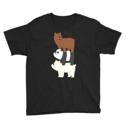 We Bare Bears Youth Tee Designed By Gooseiant