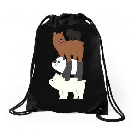 We Bare Bears Drawstring Bags Designed By Gooseiant