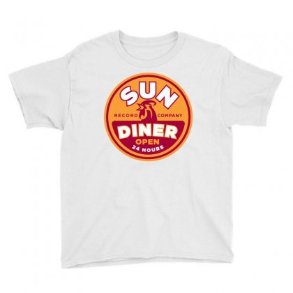 Sun Diner Record Rooster Youth Tee Designed By Gooseiant