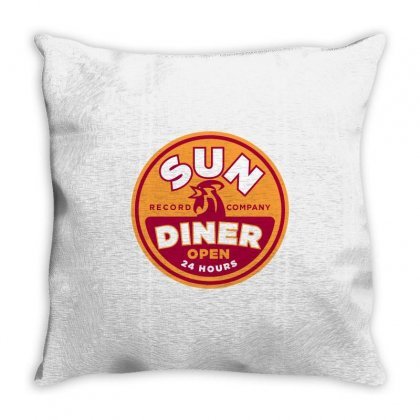 Sun Diner Record Rooster Throw Pillow Designed By Gooseiant