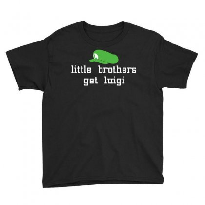 Little Brothers Get Luigi Youth Tee Designed By Gooseiant