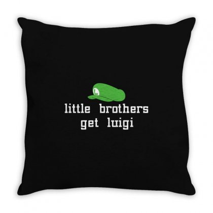 Little Brothers Get Luigi Throw Pillow Designed By Gooseiant