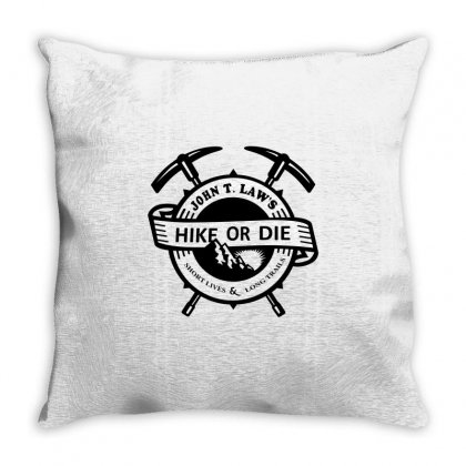 Hike Or Die Throw Pillow Designed By Gooseiant