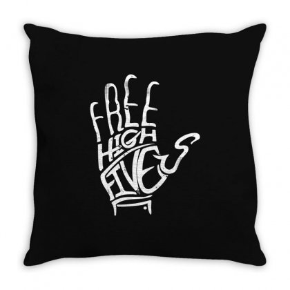 Free High Fives Throw Pillow Designed By Gooseiant
