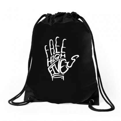Free High Fives Drawstring Bags Designed By Gooseiant