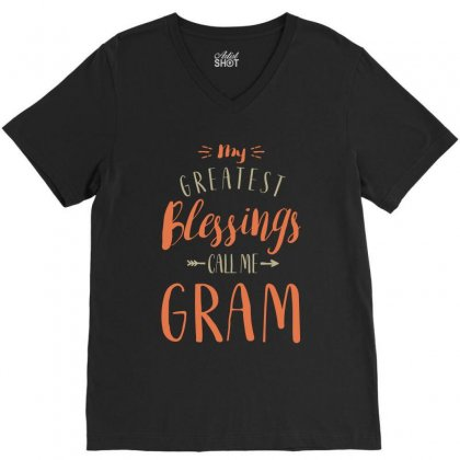 Greatest Gram V-neck Tee Designed By Cidolopez