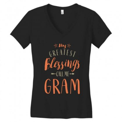 Greatest Gram Women's V-neck T-shirt Designed By Cidolopez