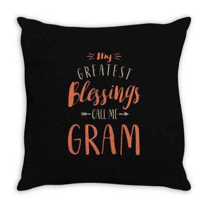 Greatest Gram Throw Pillow Designed By Cidolopez