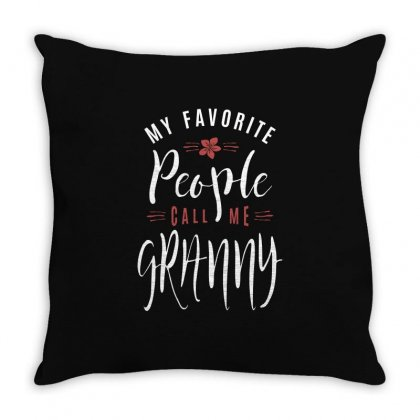 My Favorite Granny Throw Pillow Designed By Cidolopez