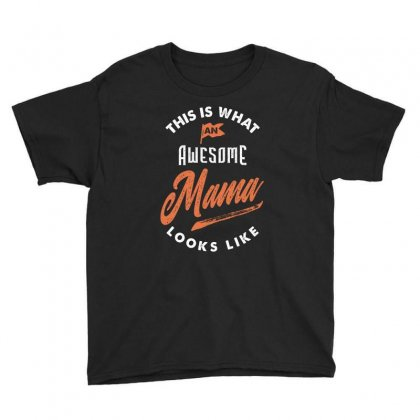 Awesome Mama Youth Tee Designed By Cidolopez