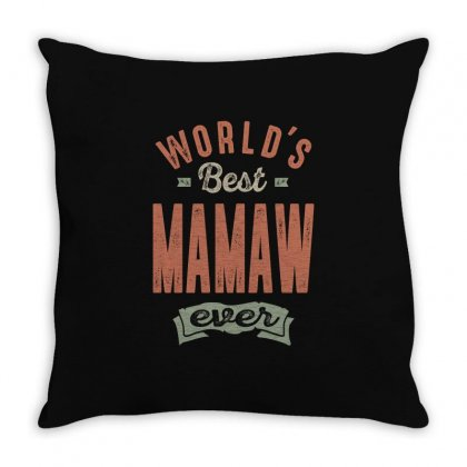 Best Mamaw Throw Pillow Designed By Cidolopez