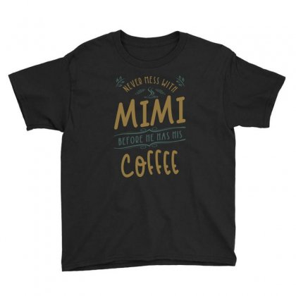 Mimi Coffee Youth Tee Designed By Cidolopez