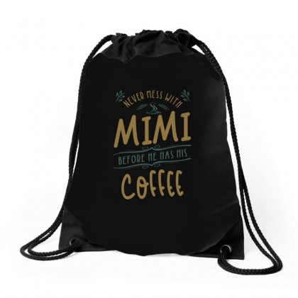 Mimi Coffee Drawstring Bags Designed By Cidolopez