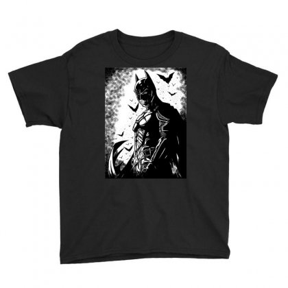Shadow Of The Bat Youth Tee Designed By Algatorartistry77
