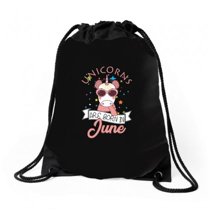 Unicorns Are Born In June T Shirt Drawstring Bags Designed By Hung