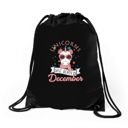 Unicorns Are Born In December T Shirt Drawstring Bags Designed By Hung