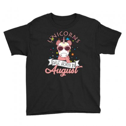 Unicorns Are Born In August T Shirt Youth Tee Designed By Hung