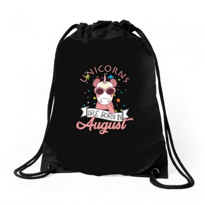 Unicorns Are Born In August T Shirt Drawstring Bags Designed By Hung