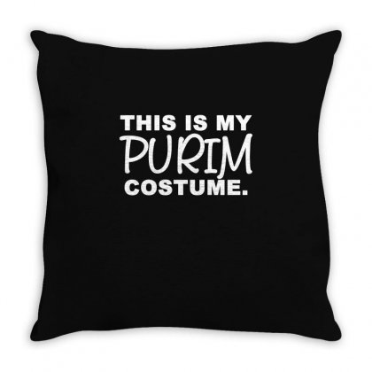 This Is My Purim Costume T Shirt Throw Pillow Designed By Hung