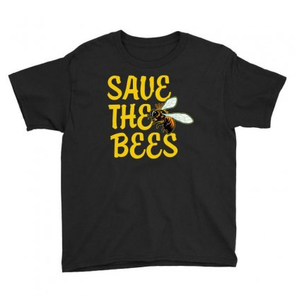 Save The Bees T Shirt Youth Tee Designed By Hung