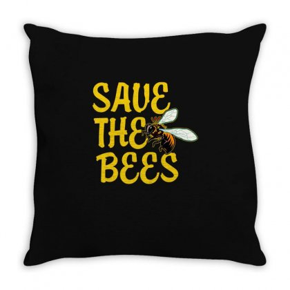 Save The Bees T Shirt Throw Pillow Designed By Hung