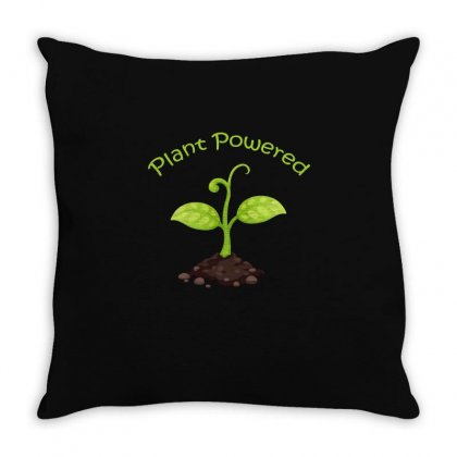 Plant Powered T Shirt Throw Pillow Designed By Hung