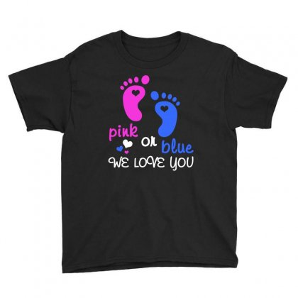 Pink Or Blue We Love You T Shirt Youth Tee Designed By Hung