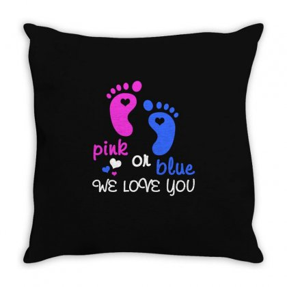 Pink Or Blue We Love You T Shirt Throw Pillow Designed By Hung
