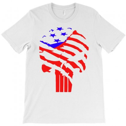 American Flag Punisher T-shirt Designed By Hot Design