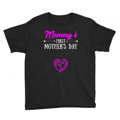 Mommys First Mothers Day T Shirt Youth Tee Designed By Hung