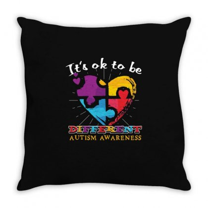 Its Ok To Be Different   Autism T Shirt Throw Pillow Designed By Hung
