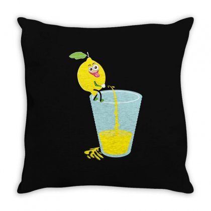 Funny Lemon Throw Pillow Designed By Wizarts